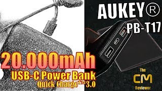 Aukey PB-T17 Test: 20.000mAh USB-C Power Bank 🔋🔋🔋 Qualcomm�...