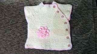 Детская безрукавка с боковой застежкой (на 1 год). Вязание спицами