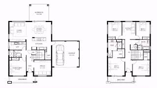 Simple 2 Story 4 Bedroom House Plans