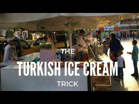 Turkish ice cream man trick game show troll, antalya, Turkey