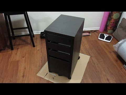 Ikea Micke Drawer Unit Assembly Detailed Youtube