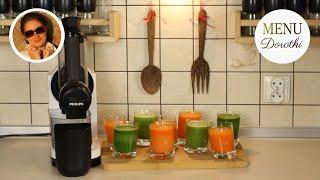 Dlaczego warto pić soki owocowe i warzywne z wyciskarki wolnoobrotowej? MENU Dorotki.