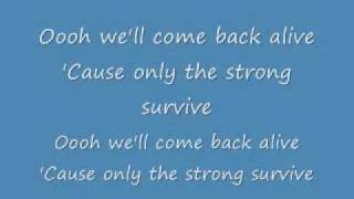Only the Strong Survive video lyrics sung by REO Speedwagon. Hope y...