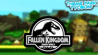 JURASSIC WORLD in Theme Park Tycoon 2!! - Roblox