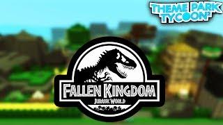 JURASSIC WORLD em Theme Park Tycoon 2! -Roblox