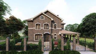 Проект двухэтажного дома в английском стиле 212 кв.м. | SketchUp + Lumion 8