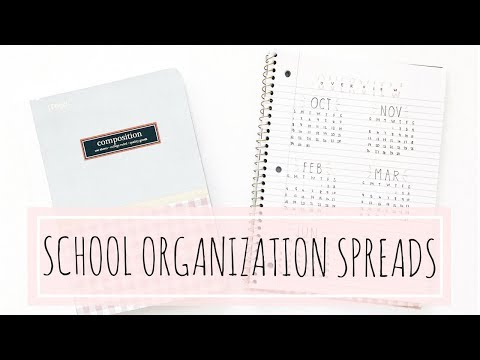 BACK TO SCHOOL: ORGANIZATION SPREADS IN A LINED JOURNAL