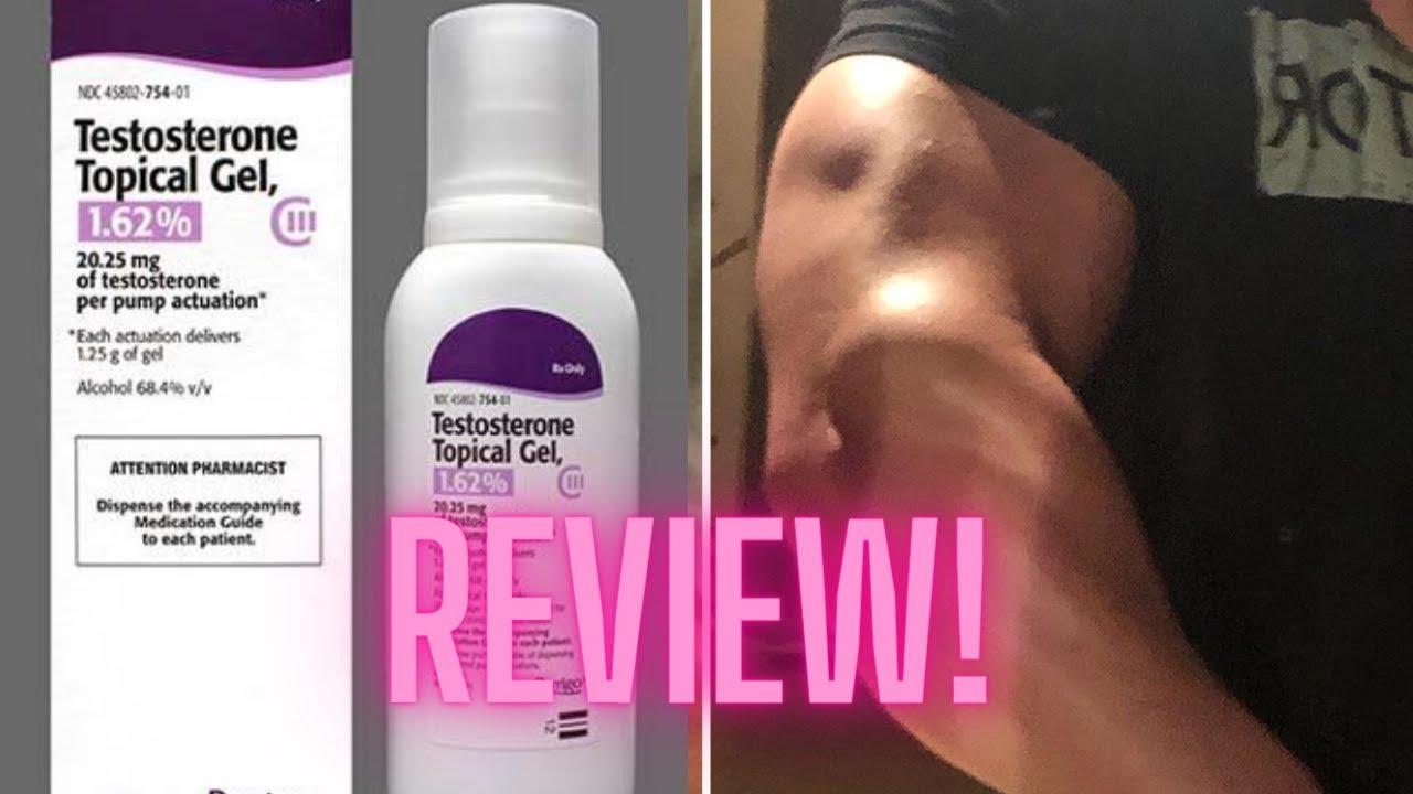 Testosterone GEL 1.62% Review TRT - YouTube