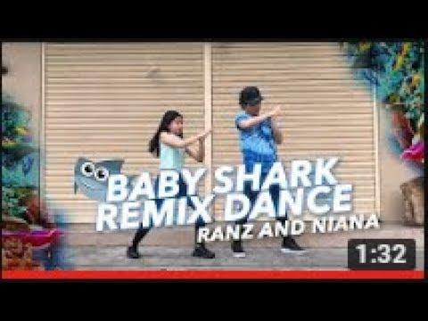 Siblings Baby Shark Remix Dance | Ranz and Niana