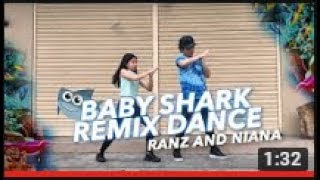 Siblings Baby Shark Remix Dance | Ranz and Niana