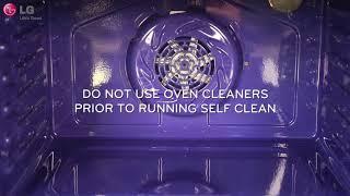 LG Range - Using Self Clean