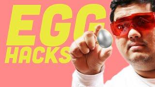 Testing 9 EGG EXPERIMENTS Debunked | FOODBEAST Labs