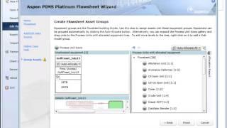 Aspen PIMS Platinum V8.2 Flowsheet Wizard