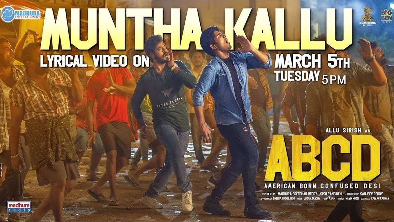 Muntha Kallu Song Promo |  ABCD Movie Songs | Allu Sirish | Rukshar Dhillon | Tirupathi Jaavana