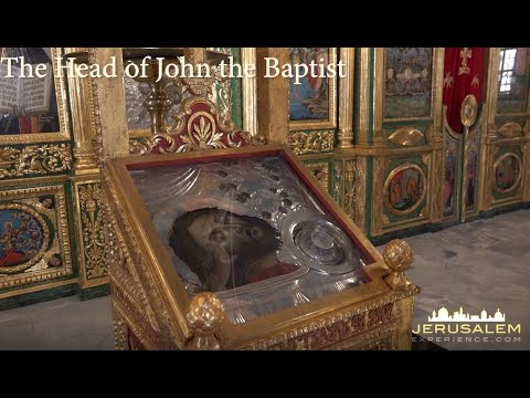 Renovated Church of John the Baptist Jerusalem - See fragments of John the Baptist Skull