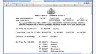 TODAY KERALA LOTTERY RESULTS , http://www.keralalotteryresult.net/