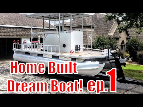 Custom Built Fishing Pontoon The LUCILLE IV (part 1of4)
