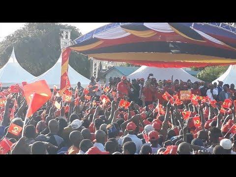 President Kenyatta throws jabs at Raila during his rally at Tononoka in Mombasa