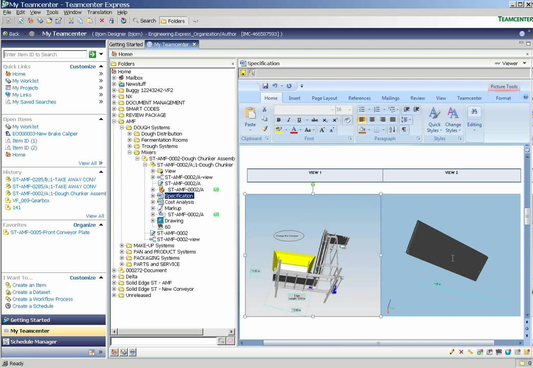 Siemens Plm Teamcenter Express Pdm Wmv Youtube