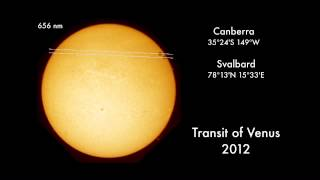 Venus Transit From Arctic and Australia Shows Parallax | Video