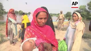 Authorities evacuate residents from the flood devastated region of Punjab