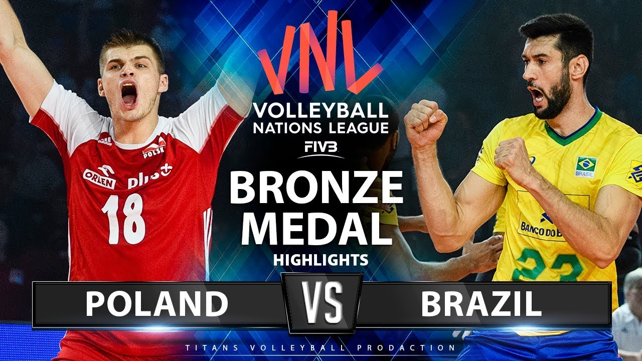 Poland vs Brazil | Bronze Medal Match | Highlights | Men's ...