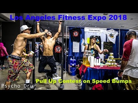 Los Angeles Fitness Expo 2018 (DAY 2) - Speed Bump Energy Pre Workout Pull Up Contest!