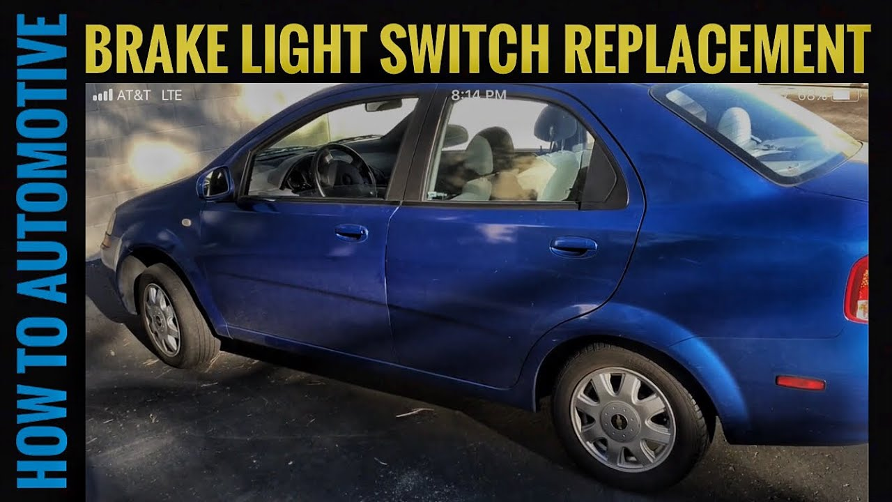 How To Replace The Brake Light Switch On A Chevy Aveo Youtube
