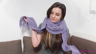 Шарф английской резинкой / МАСТЕР-КЛАСС - вязание спицами. #SM