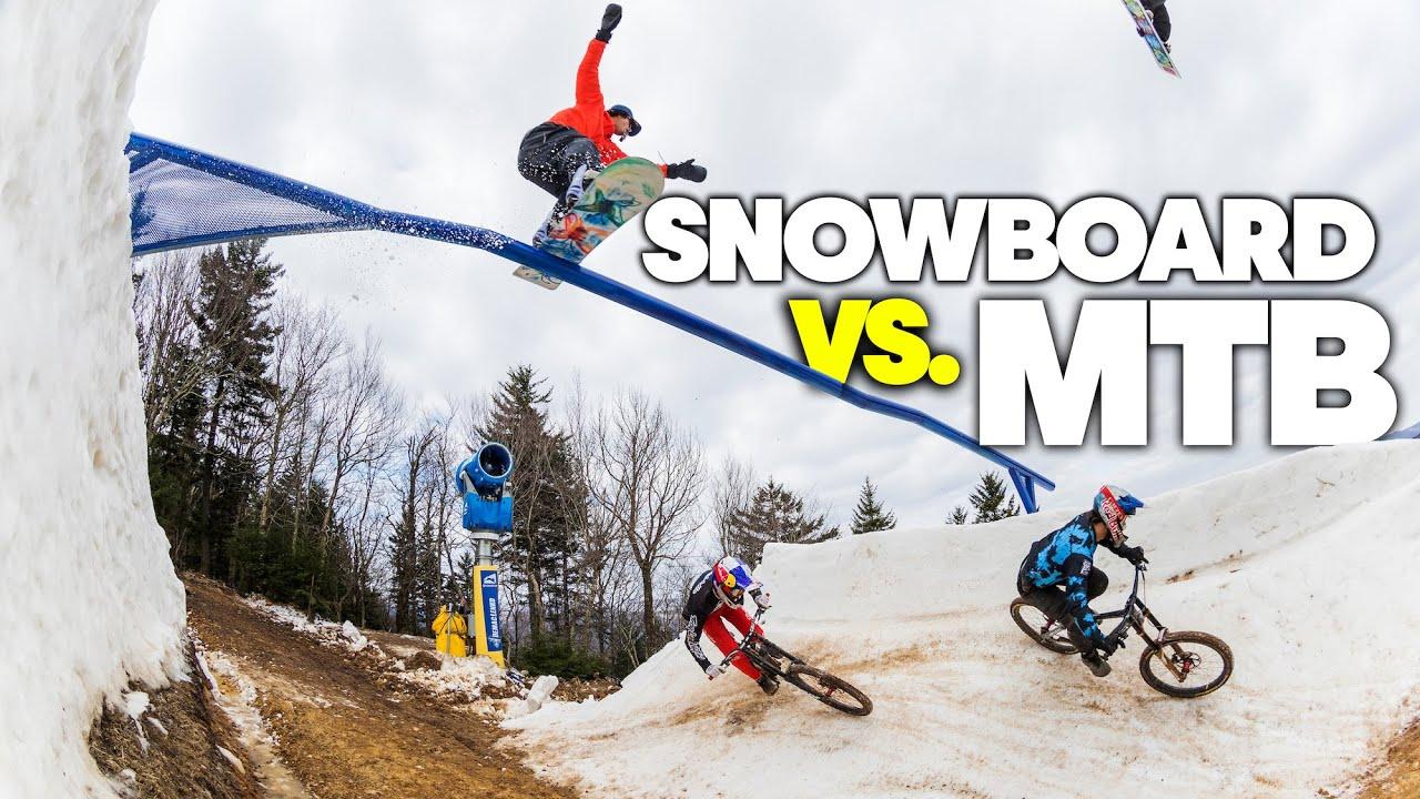 MTB Downhill vs. Snowboard | Last Chair, First Run