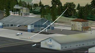 FSX DG-808S Airport Andras field addon►►► Special waterfall overflight