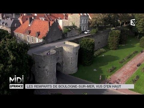 VUE D'EN HAUT : Les remparts de Boulogne-sur-Mer