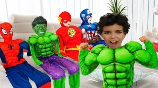Sami became a superheroes and helps his friends