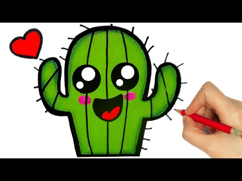 HOW TO DRAW CACTUS/ como desenhar um cacto/ dibujar un cactus