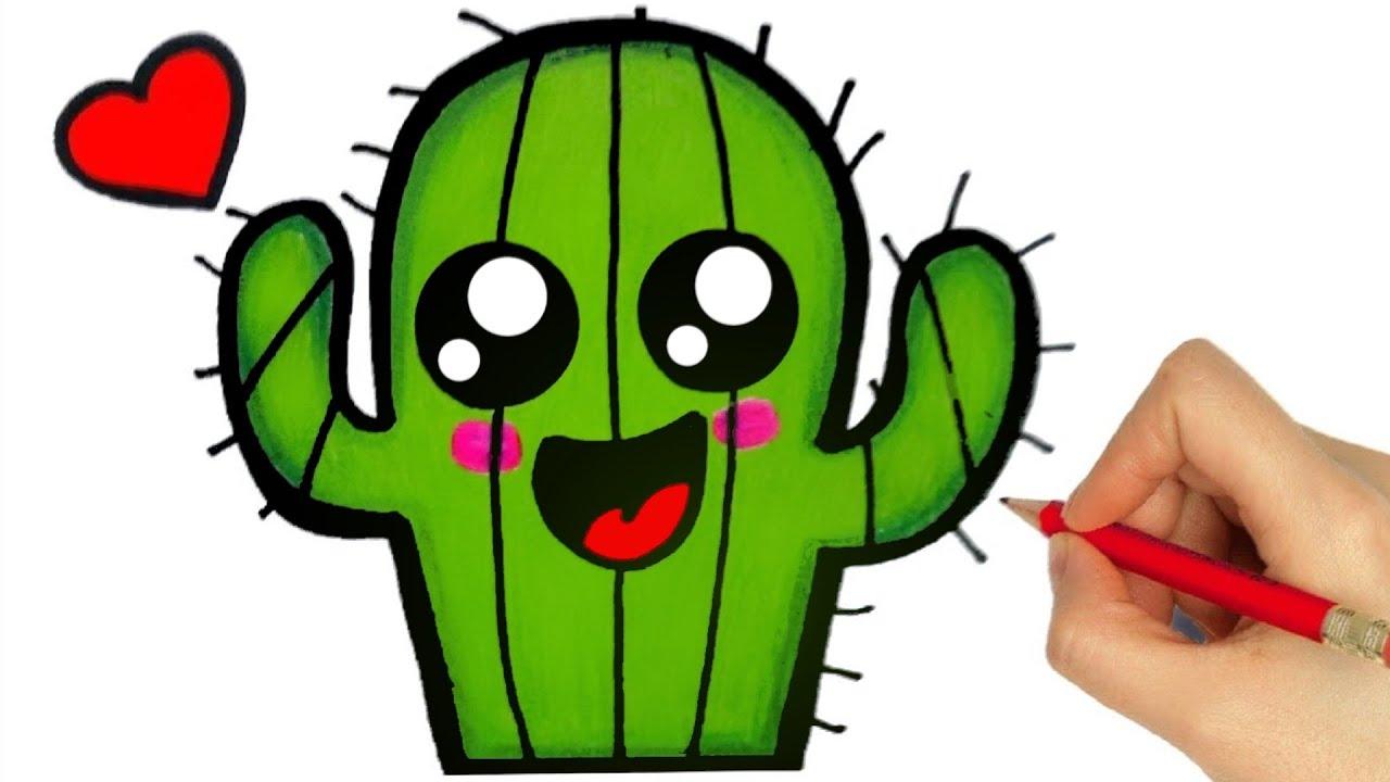How To Draw Cactus Como Desenhar Um Cacto Dibujar Un Cactus