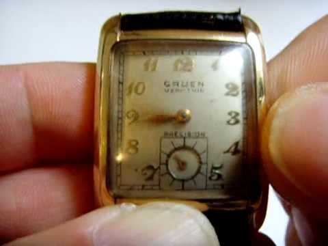 vintage gruen veri thin precision 17j mechanical watch youtube