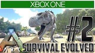 Ark Xbox One Gameplay!! Ep 2 - TAKE ON A T-REX?