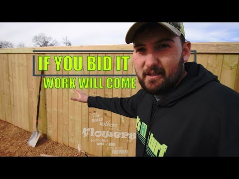 Privacy Fence Install By A Lawn Care Business?