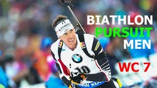BIATHLON MEN PURSUIT 4.03.2017 World Cup 7 PyeongChang (Republic of Korea)