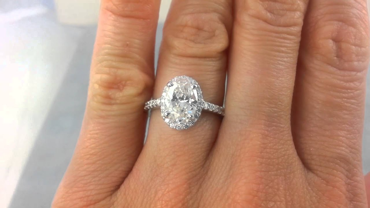 2 02 Ctw Oval Cut G Si1 Diamond Engagement Ring