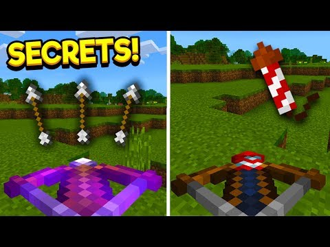 CROSSBOWS & ROCKETS?! - Secrets/Features For The Crossbow In Minecraft (PE/PC/XBOX)