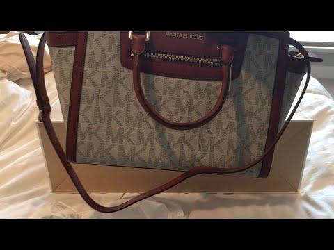 01228210f3e94b Michael Kors Selma Monogram Tote Bag - UNBOXING - YouTube