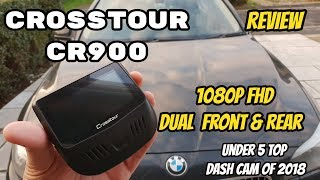 Crosstour CR900 Dual 1080P FHD Front & Rear Dashcam - Recordings & Details