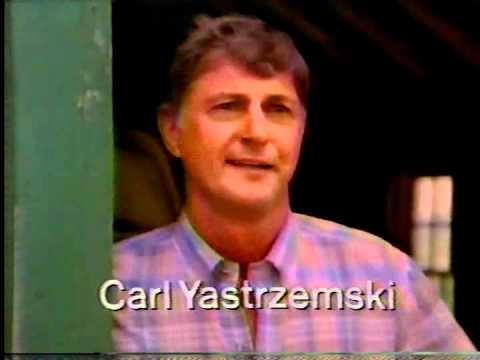 1985 Carl Yastrzemski Boston Red Sox Miller Commercial