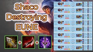 Shaco smurfing in Europe North East [League of Legends] Full Gameplay - Infernal Shaco
