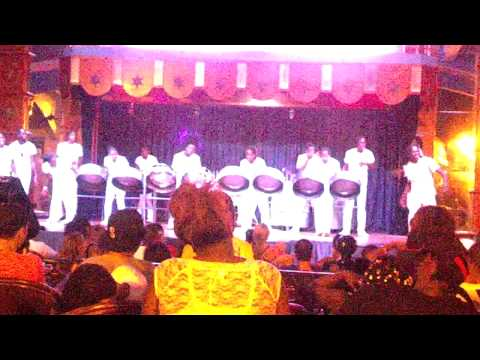 RIU All Inclusive Resort at Ocho Rios Jamaica Steel Drums and folks having fun