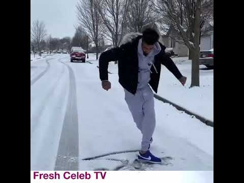 Download Blueface does his C walk dance in the snow hot or nah🤖