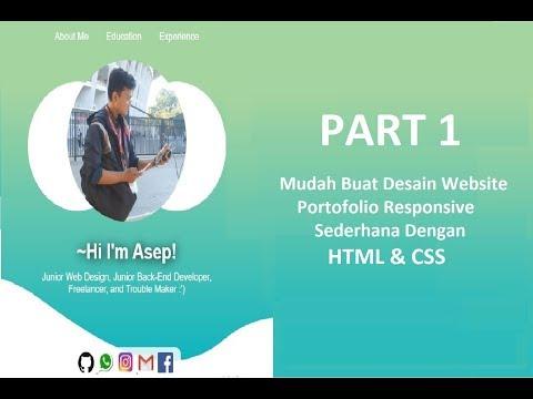 Mudah Buat Desain Website Portofolio Responsive Sederhana Dengan HTML & CSS (CV Online)- PART 1