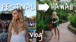 GRWM/FESTIVAL/HAWAII VLOG