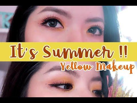 How To   It's Summer!! แต่งหน้าสดใสสีเหลืองเรืองแสงกัน Yellow Makeup   KoiOnusa